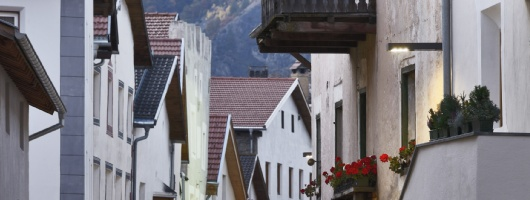 Town center Glurns, South Tyrol